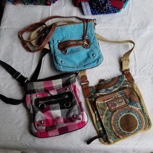 3 shoulder bag purses - 1 fossil, 2 from maurices